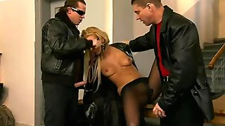 Spoiled and voracious spy Angelina Love desires to suck strong cocks