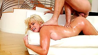 Alexis Ford gets showered with thick dick juice