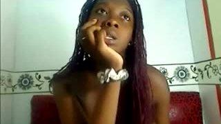 Squirt milk of my huge nipples, horny black girl on webcam