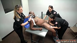 Black couple seduce white Milf Cops