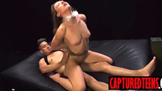 Young Callie got slapped in face with cum after rough sex
