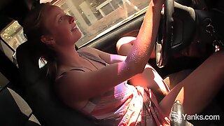 Yanks Hottie Aden Rose Cums in the Car