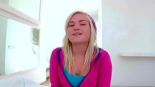 Skinny teen Chloe gets monstercock anal