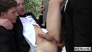 Sexy Connor have a threesome with his buddies JJ and Tommy