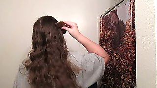 Hair Journal: Combing Long Curly Strawberry Blonde Hair - Week 10 (ASMR)