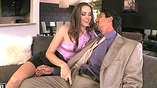 Tori Black pleases her man's cock making it really hard to handle