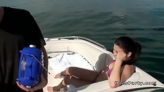 Foursome party fucking on the boat