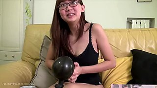 Wand Vibrator Solo on Yellow Sofa