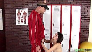Schoolgirl receives access to a huge mature pecker