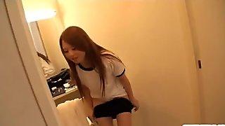 Sakamoto Hikari coed posing naughty