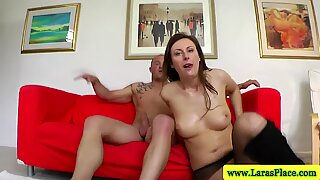 Mature brit in stockings getting fucked