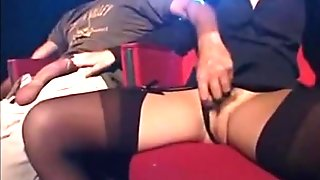 Sex in the cinema! Double Penetration