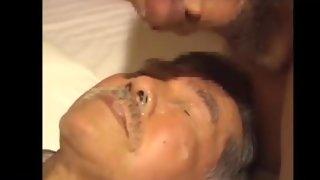mustache asian older man