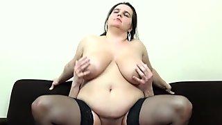 Euro BBW Big Tits Deborah fisting movie