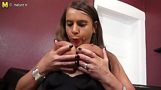 Hot German big breasted MILF wants to suck your cock