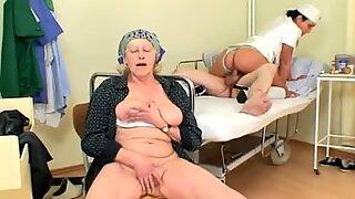 crazy scorching Nurse Helps senior Patient To Get Laid