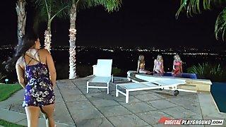 Adriana Sephora, Chloe Amour, Eva Lovia, Mia Malkova & Toni Ribas  in DP STAR Confidential: Eva Lovia Part 1