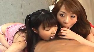 Saki Asaoka gets pussy smashed in hot threesome