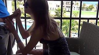 tiny german anal on the balcony