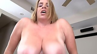 Alluring pussy drilling for a and breasty darling
